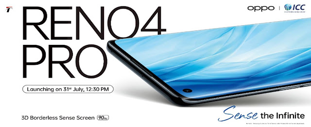 Oppo Reno 4 Pro भारत में launch होगा 31 July को