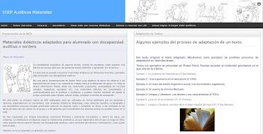 Materiales didácticos adaptados para alumnado sordo