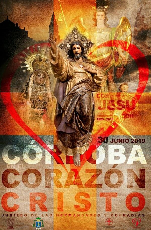 Cartel del noventa aniversario de la Consagración de Córdoba al Sagrado Corazón de Jesús
