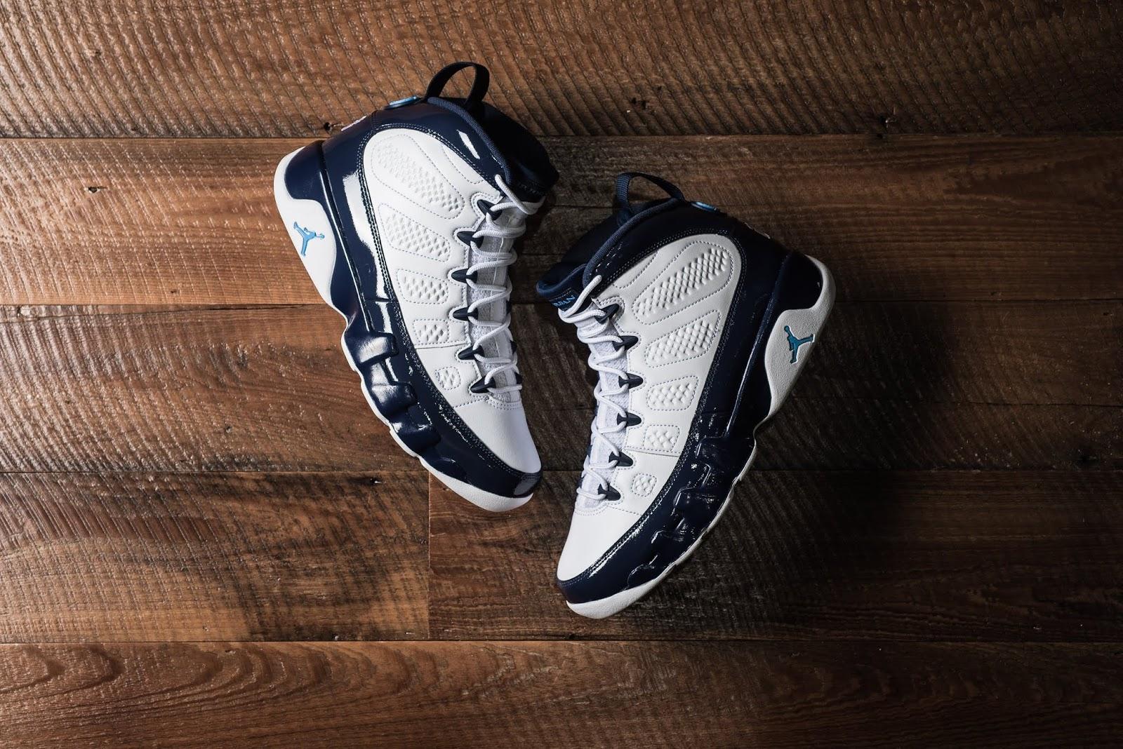 best sneakers 135ec b6679 Air Jordan 9 Retro - White University Blue Midnight Navy