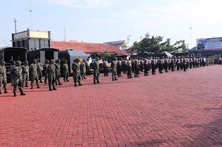 Dandim 0719 Jepara dan Kapolres Jepara Pimpin Apel gelar Pasukan PPKM darurat
