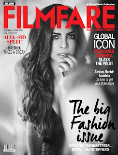 Priyanka Chopra Sizzles for Filmare Magazine October 5 2016 in Black and White Spicy Stunning Pics