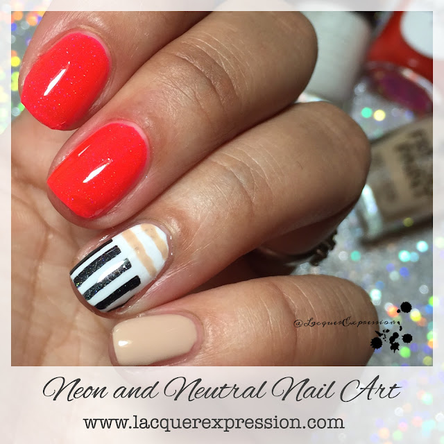 HBP Presents Neutrals & Neons Nail Art