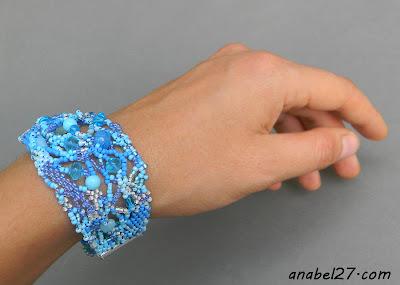 freeform peyote bracelet beadwork beading