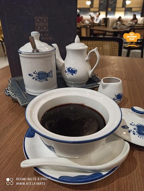 Dessert Menu - Chilled Nourishing Herbal Jelly Served With Honey 蜜糖龟苓膏