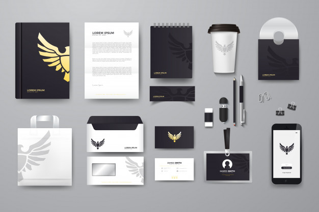 vector Company branding mockup  download free