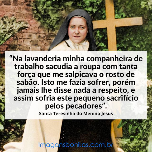 Frase de Santa Teresinha do Menino Jesus