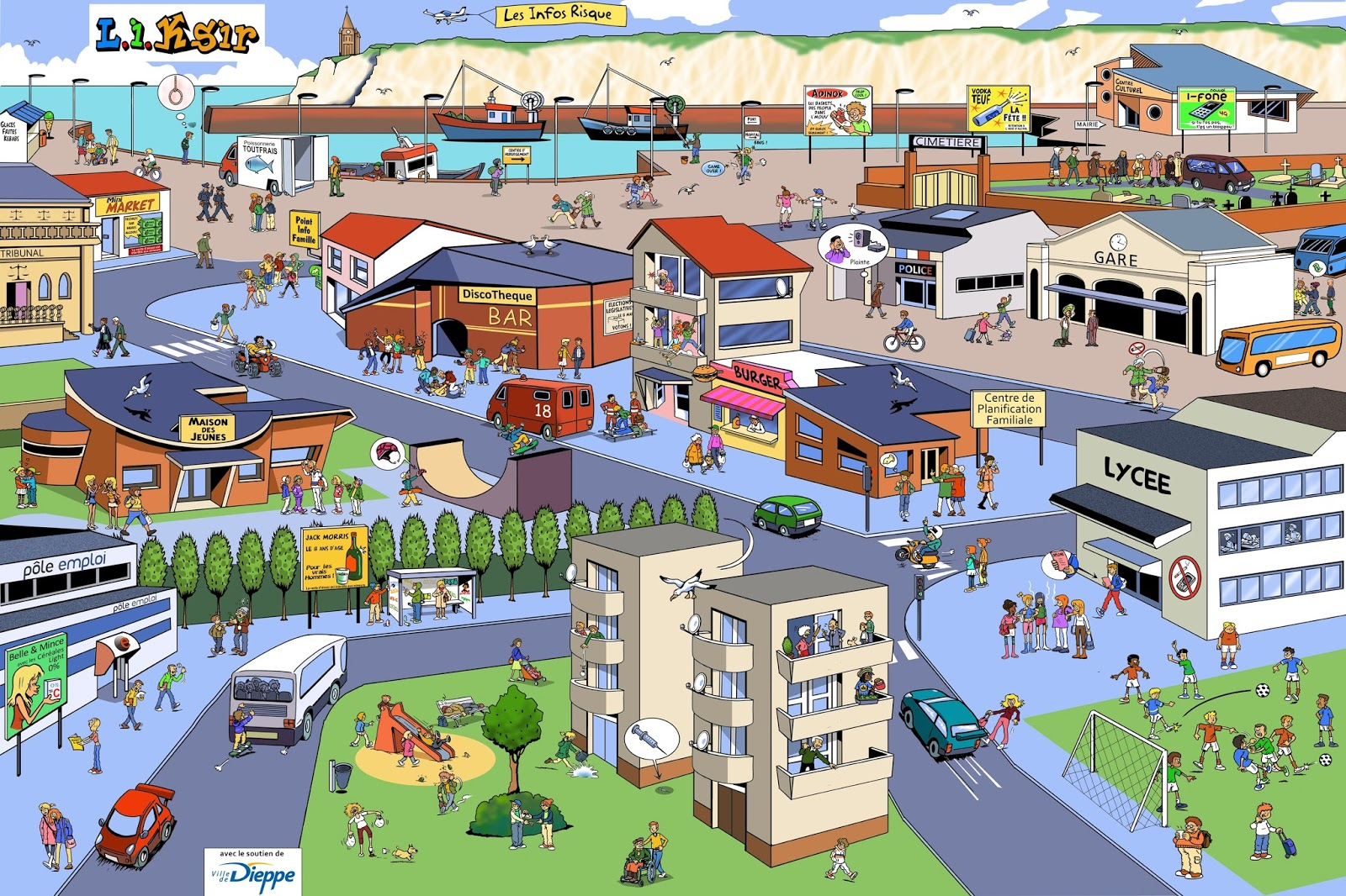 Aftex notre petit monde les lieux de la ville for Piscine mantes la ville