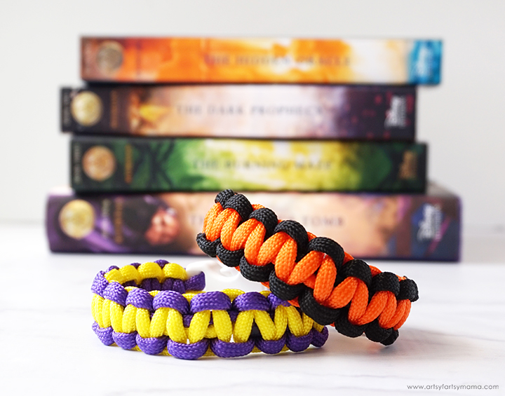 Paracord Bracelets with Trials of Apollo Book Set