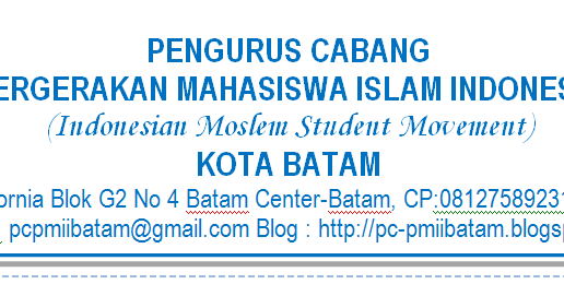 contoh surat pmii sesuai pedoman penyelenggaraan tertib administrasi ppta pc pmii batam