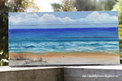 DIY Seascape Pallet Painting