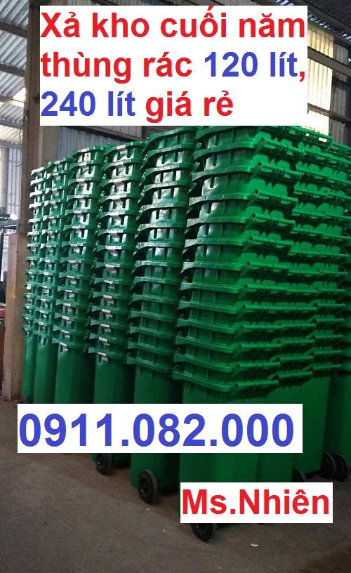 Cung cấp thùng rác 120 lít, thùng rác 240 lít giá đại lý