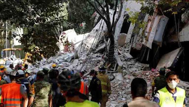 Gempa 7,1 SR Guncang Meksiko Saat Simulasi Peringatan Gempa Dahsyat 1985