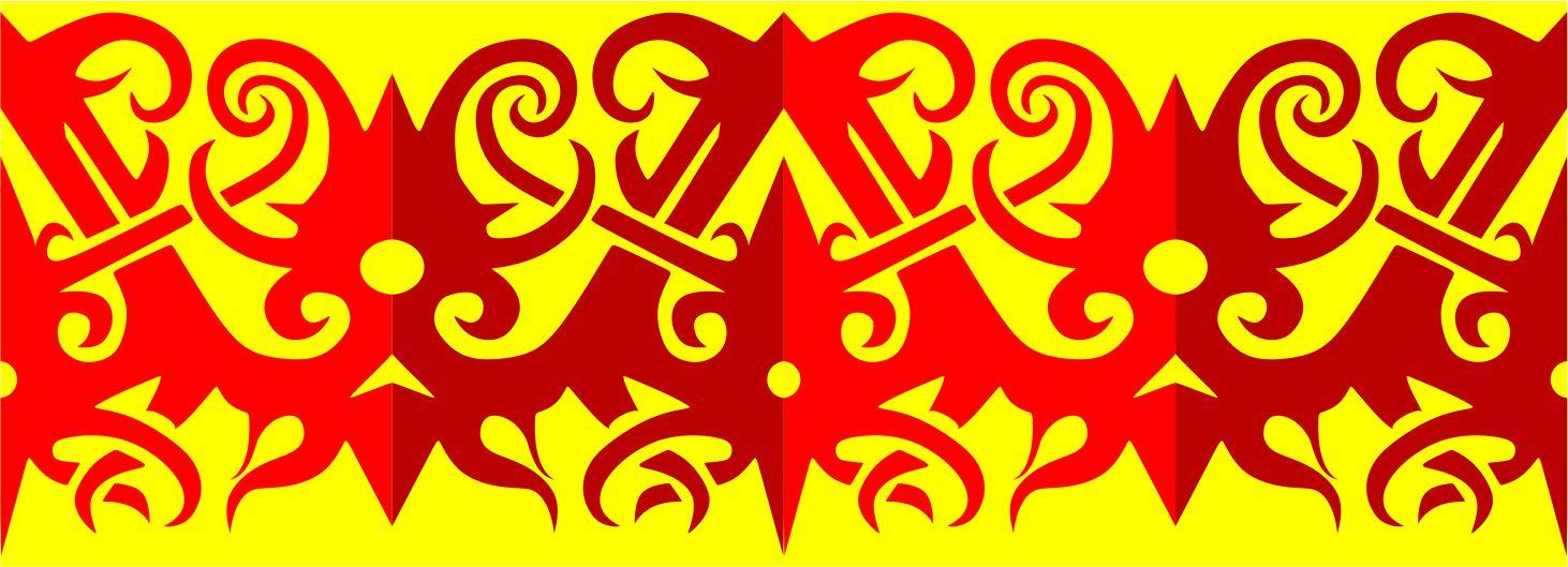 motif dayak red black yakopblog