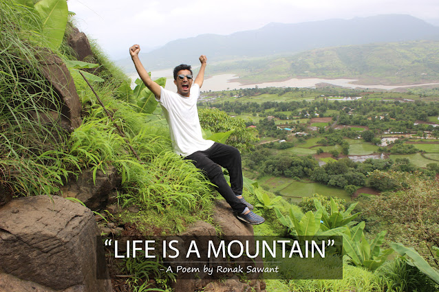 Cover Photo: Life is a Mountain - A Poem by Ronak Sawant