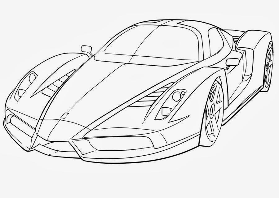 0fe11390958 Desenho de Ferrari para Colorir - Atividades Infantil 10