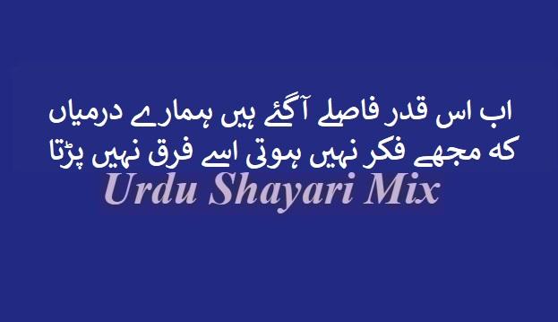 Ab is qadar fasle aagae | Urdu shayari | Hindi poetry