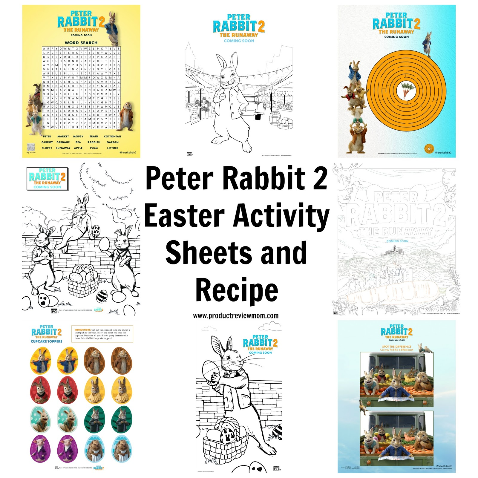 Peter Rabbit 2 Easter Activity Sheets and Recipe