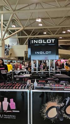 INGLOT Cosmetics display at IMATS Toronto 2019 - www.modenmakeup.com