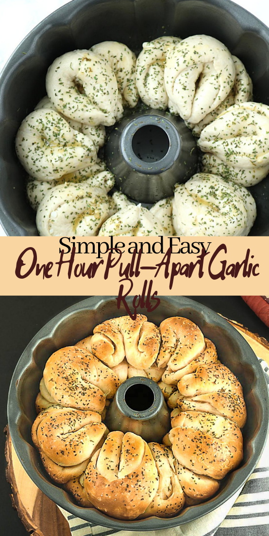 Simple and Easy One Hour Pull-Apart Garlic Rolls #vegan #vegetarian #soup #breakfast #lunch