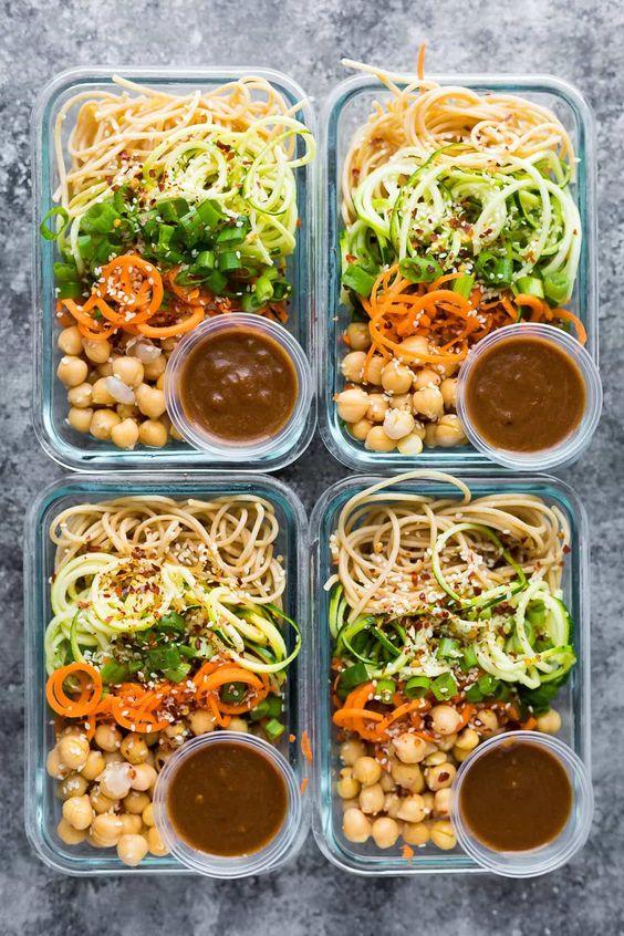 Cold Sesame Noodle Meal Prep Bowls (Vegan) #recipes #dinnerrecipes #dinnerideas #foodrecipes #foodrecipeideasfordinner #food #foodporn #healthy #yummy #instafood #foodie #delicious #dinner #breakfast #dessert #lunch #vegan #cake #eatclean #homemade #diet #healthyfood #cleaneating #foodstagram
