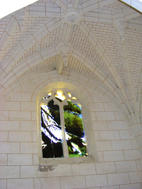 Chapel, Church of Saint Martin, Marce sur Esves.  Indre et Loire, France. Photographed by Susan Walter. Tour the Loire Valley with a classic car and a private guide.