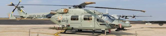 First Unit of Indigenously-Built Chopper ALH Inducted Into Navy