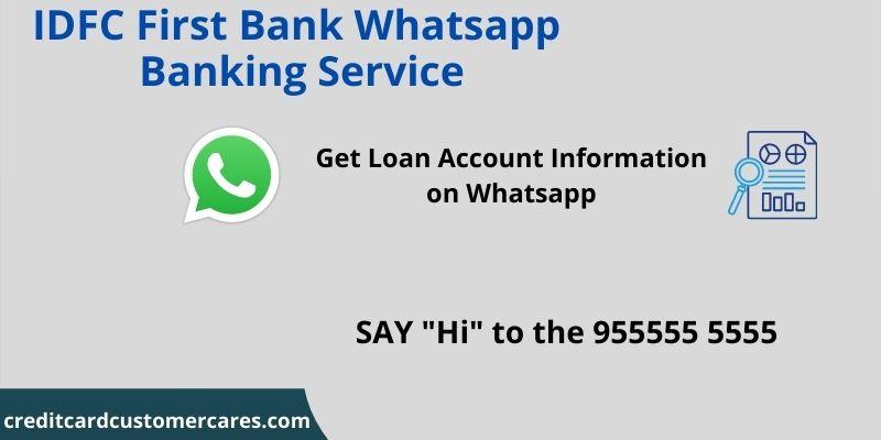 IDFC First Bank Whatsapp Banking Service