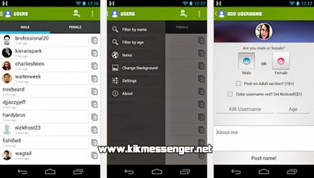Encuentra usuarios Kik con KFF Username Finder for Kik