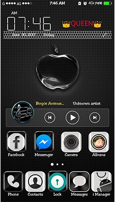Black Apple Theme itz For Vivo