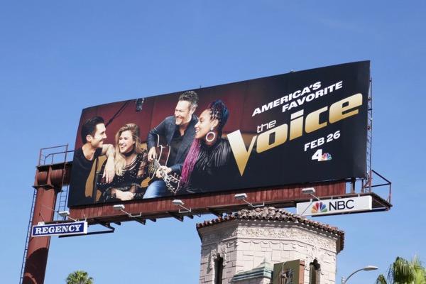 The Voice season 14 billboard