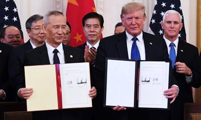 EE UU y China firman la primera fase de su nuevo acuerdo comercial