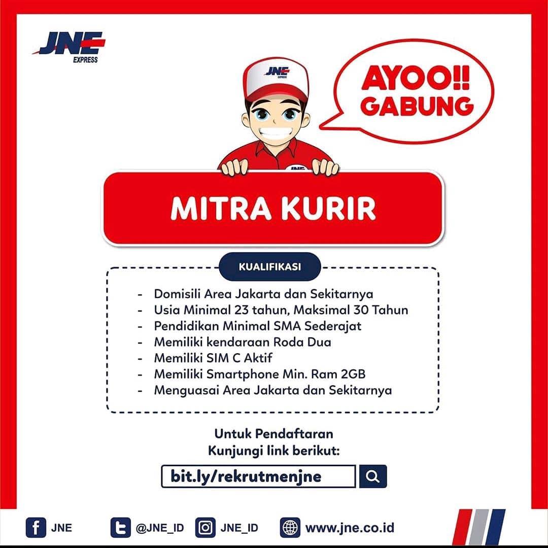 Info Lowongan Kerja Kurir Jne Jakarta Info Lowongan Kerja