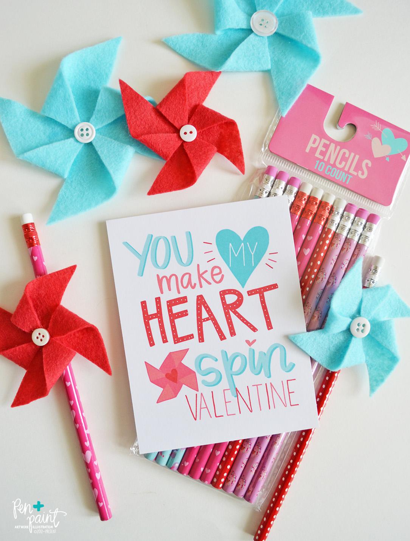 free kids valentine card printable you make my heart s