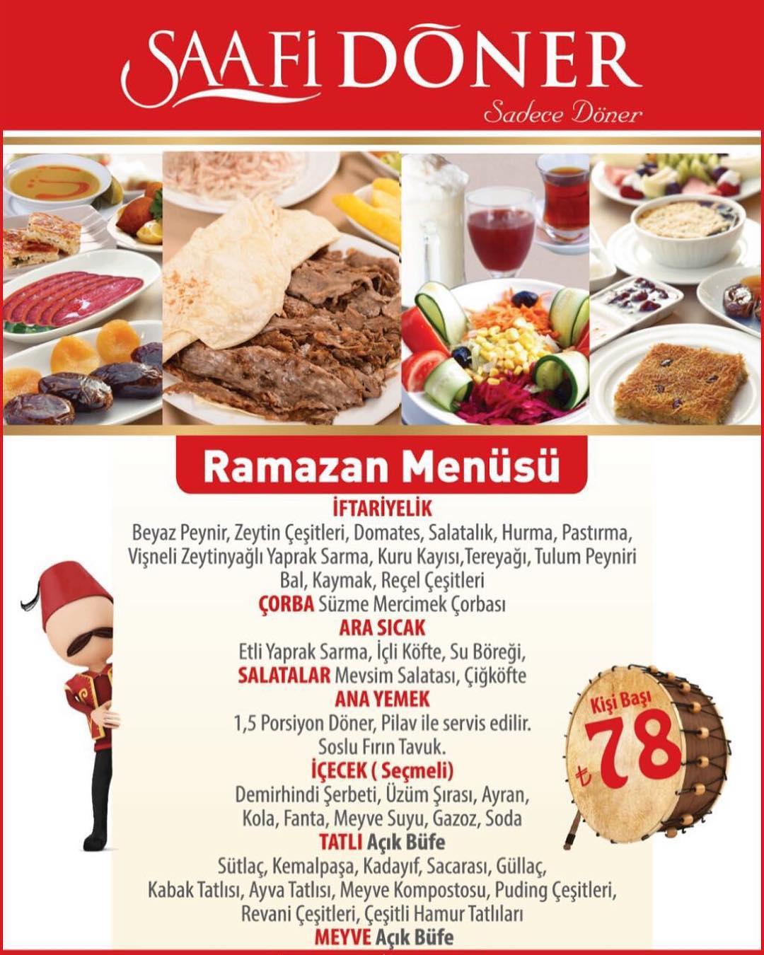 saafi döner iftar menüsü 2019 saafi döner başakşehir saafi döner şubeleri saafi döner ramazan menüsü