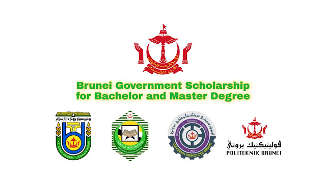Brunei Government Scholarship for Diploma, Bachelor and Master Degree