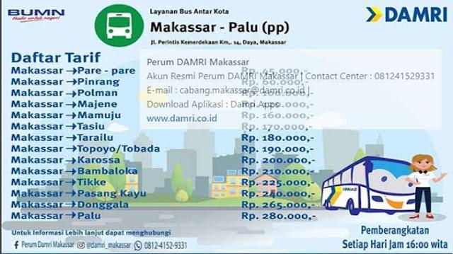 Bus Makassar Palu: Naik Damri, Ini Info Lengkapnya