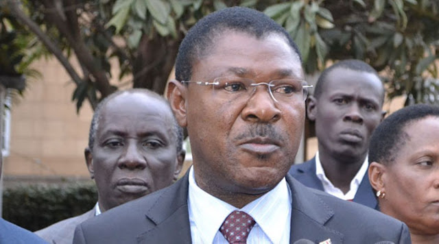 Moses Wetangula blocked in Bungoma by Police photos