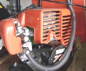 cara menghidupkan mesin potong rumput
