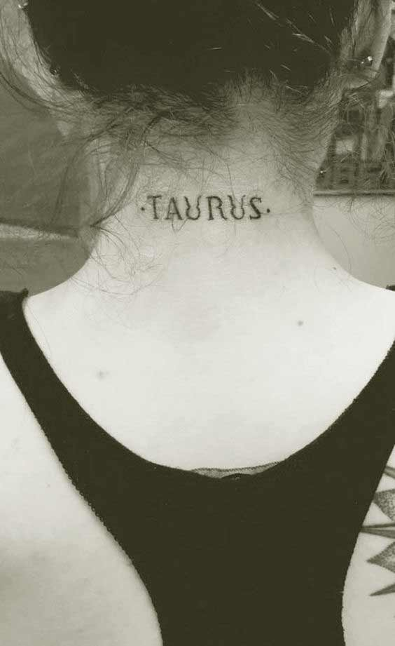 Best Taurus name Tattoos designs