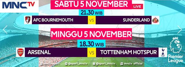 Jadwal & Siaran Langsung Liga Inggris Sabtu-Minggu 5-6 November 2016