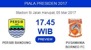 Persib Usung Misi Ganda Lawan Pusamania Borneo FC
