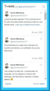 Twitter Aarón Mendoza - Baúl de Historias