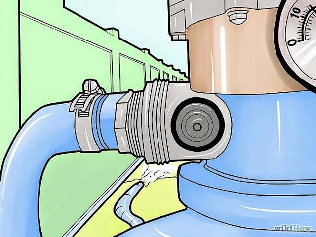 """Cara mengganti tangki filter pasir  di kolam renang """"gambar 8"""""""