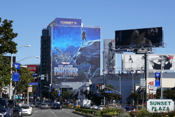 Giant Black Panther film billboard