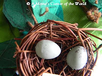 Bird nest embellishment for apple tree Halloween costume at http://www.amamascorneroftheworld.com