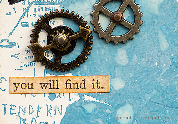 Layers of ink Sherlock Holmes Tag Tutorial by Anna-Karin Evaldsson. Gadget gears.