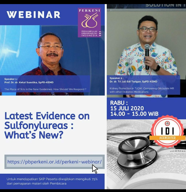 Webinar Latest Evidence on Sulfonylureas : What's New?