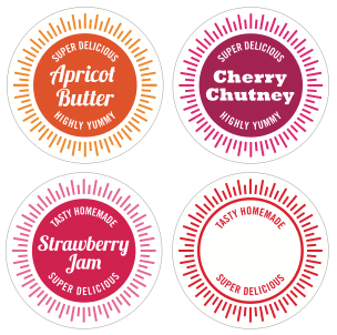 Printable jar labels how about orange for Chutney label templates