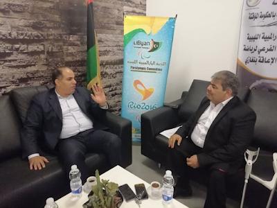 بشير القنطري يزور البارالمبية الليبية